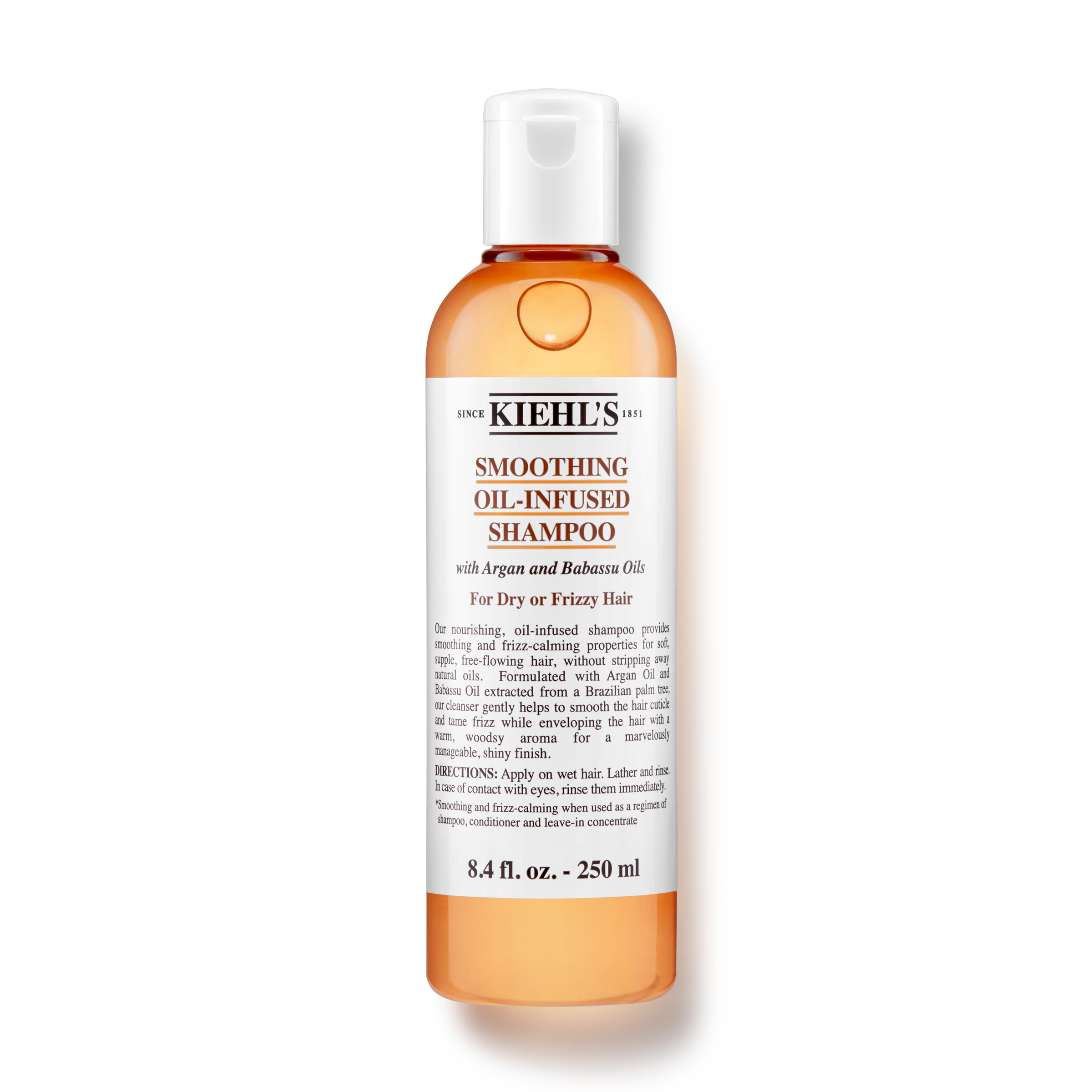 Smoothing Oil Infused Shampoo Shampoo With Argan Oil Kiehl S