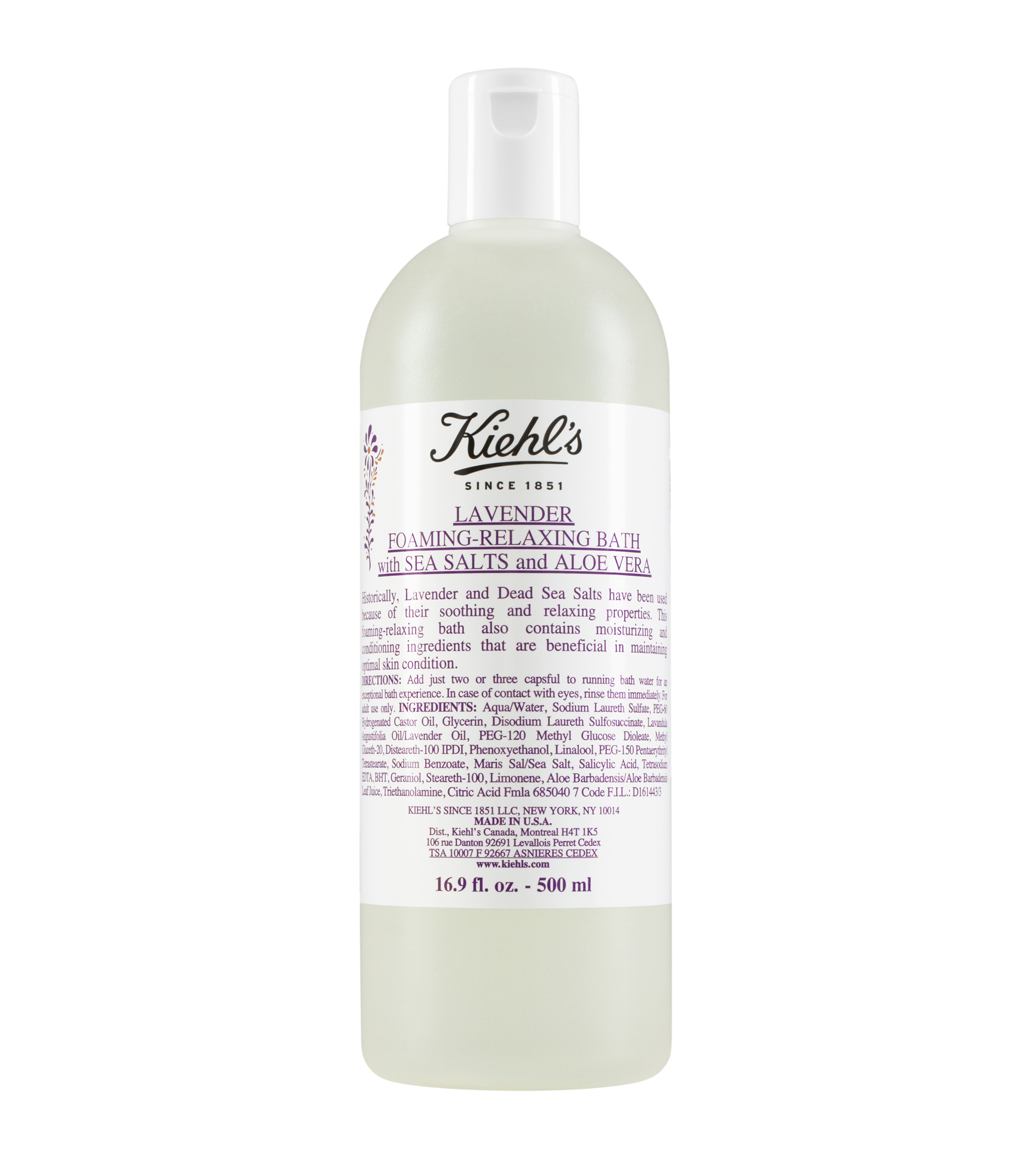 Lavender Foaming Relaxing Bath with Sea Salts and Aloe - Kiehl\'s
